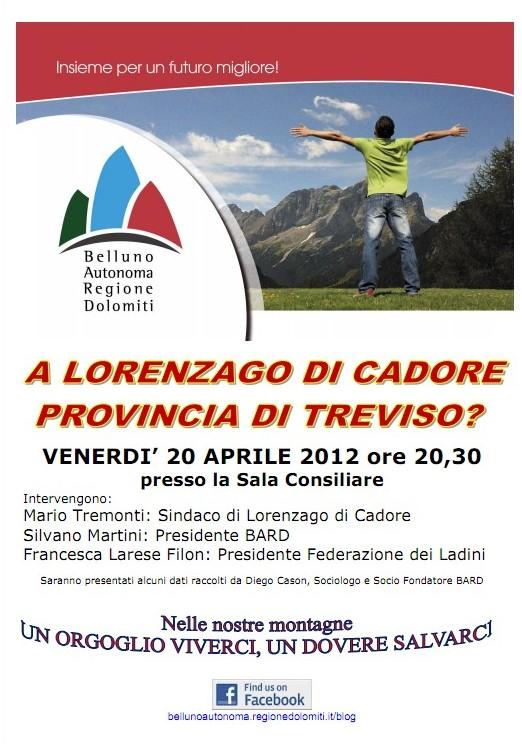 locandina incontro del BARD a Lorenzago di Cadore