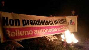 24 ottobre 2015 - Fuochi per l'autonomia - Faverghera, Belluno