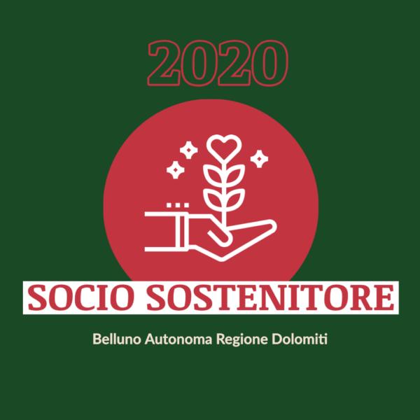 Tesseramento 2020 Socio Sostenitore - BARD: Belluno Autonoma Regione Dolomiti